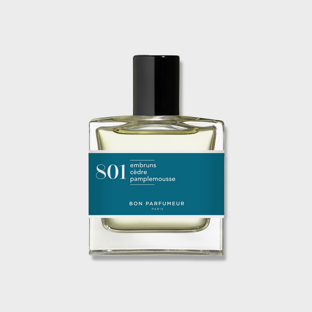 Bon Parfumeur Paris Eau De Parfum 801 - sea spray, cedar and grapefruit 30ml