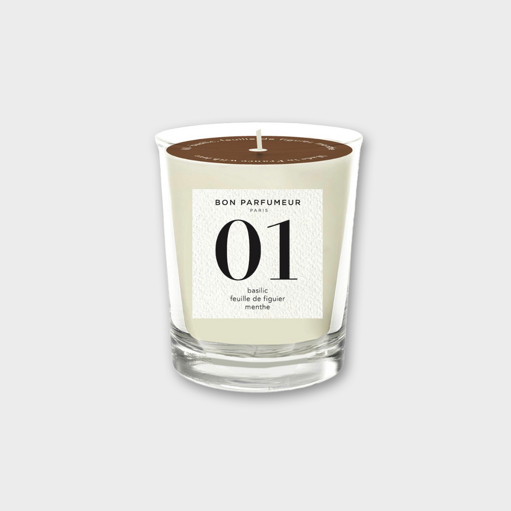 Bon Parfumeur Candle 001 - basil, fig leaves & mint 180g