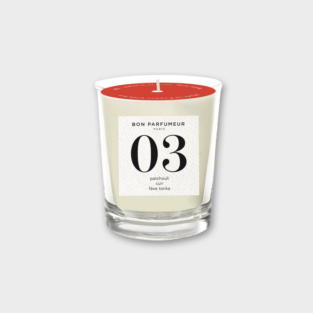 Bon Parfumeur Candle 003 - patchouli, leather & tonka bean 180g