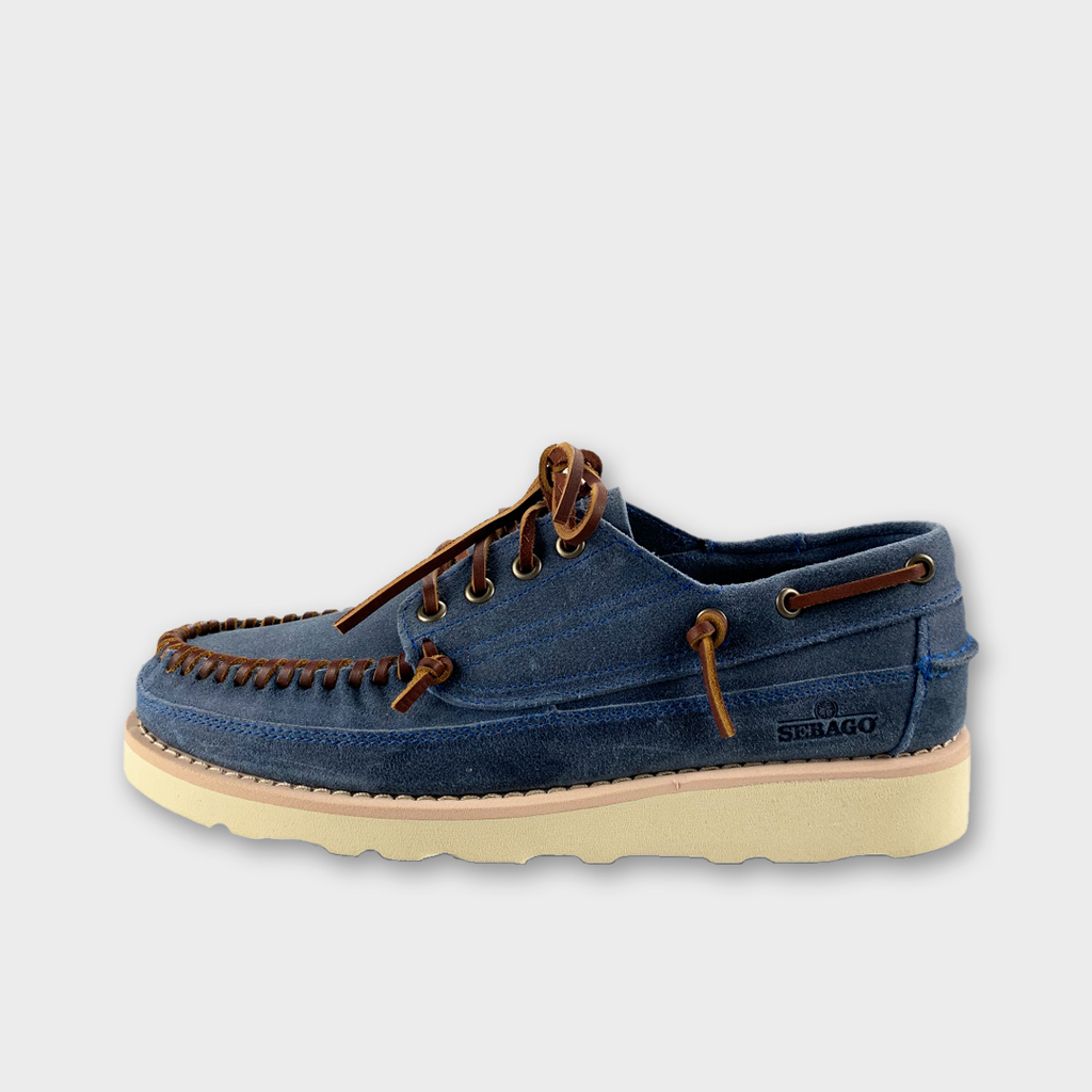 Sebago Keuka Suede Moccasin - Blue Powder