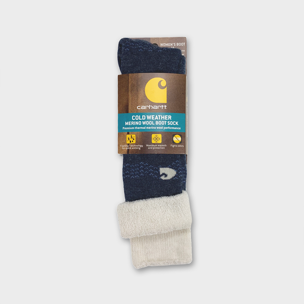 Carhartt Women Cold Weather Merino Wool Boot Socks - Denim