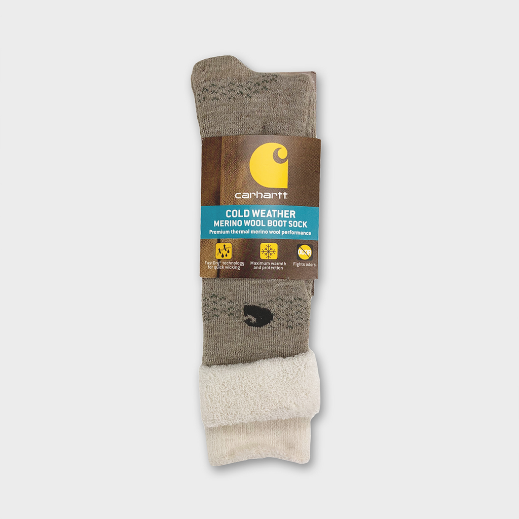 Carhartt Women Cold Weather Merino Wool Boot Socks - Khaki