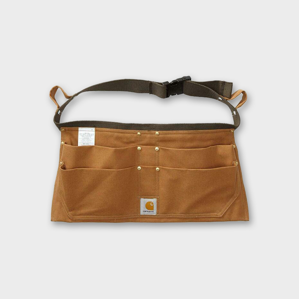 Carhartt Workwear USA Duck Tool Pocket Belt Apron - Carhartt Brown
