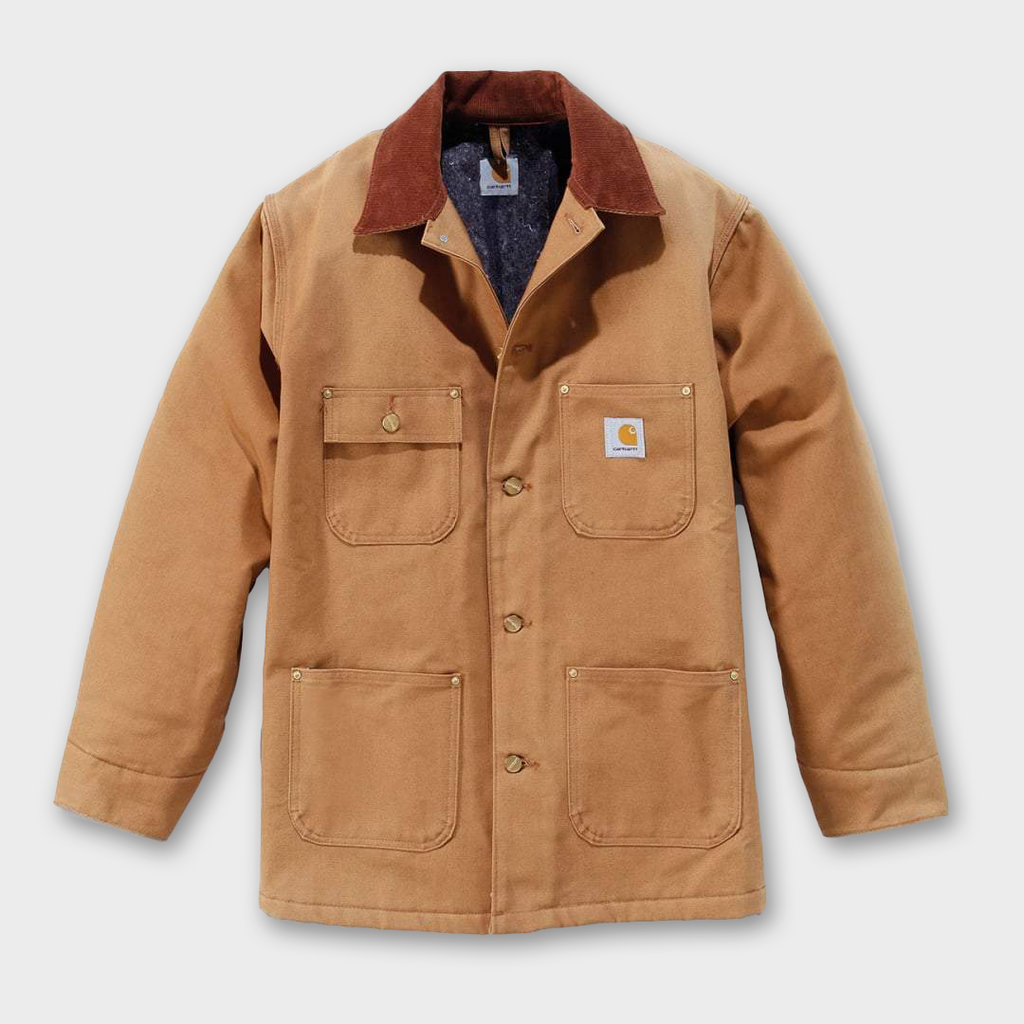 Carhartt Workwear USA Firm Chore Coat - Carhartt Brown