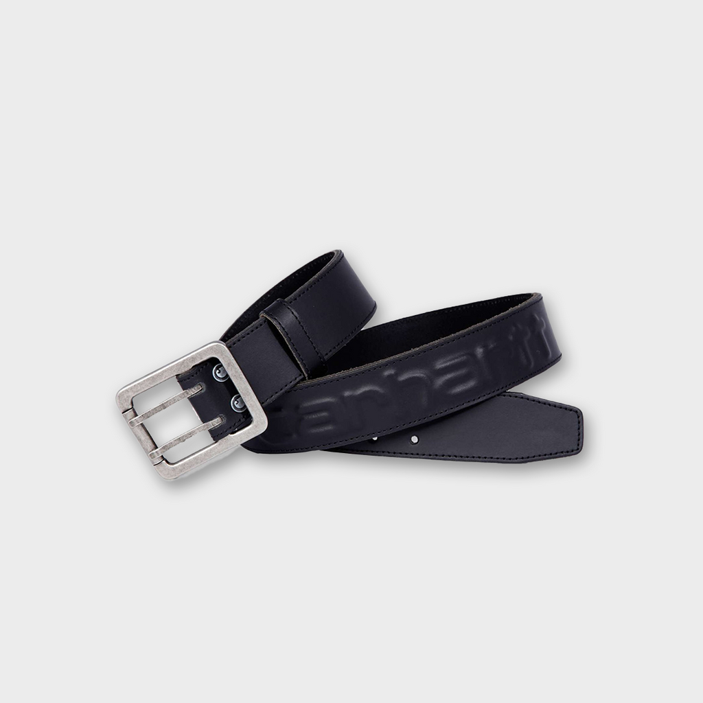 Carhartt Workwear USA Leather Logo Belt - Black