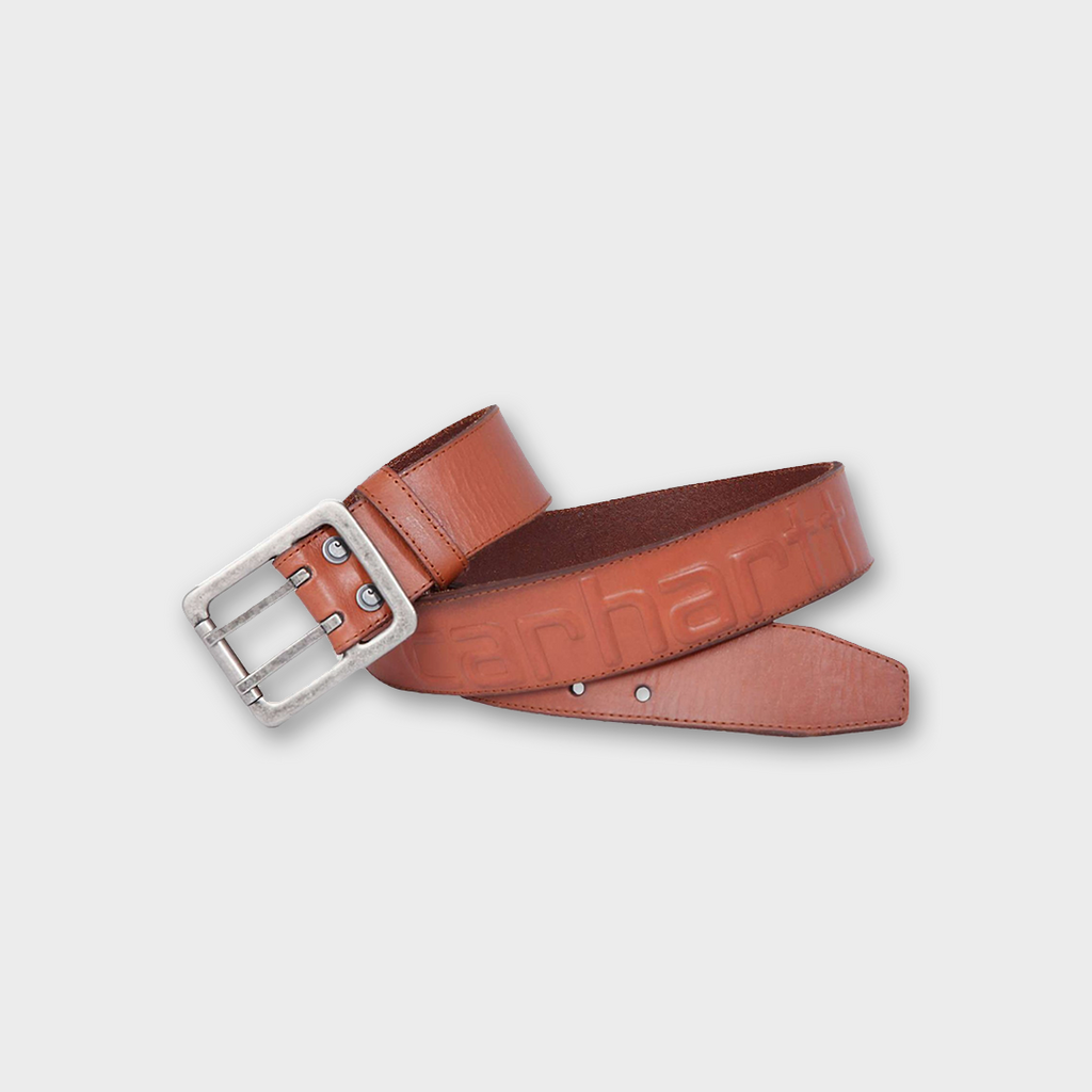 Carhartt Workwear USA Leather Logo Belt - Carhartt Brown