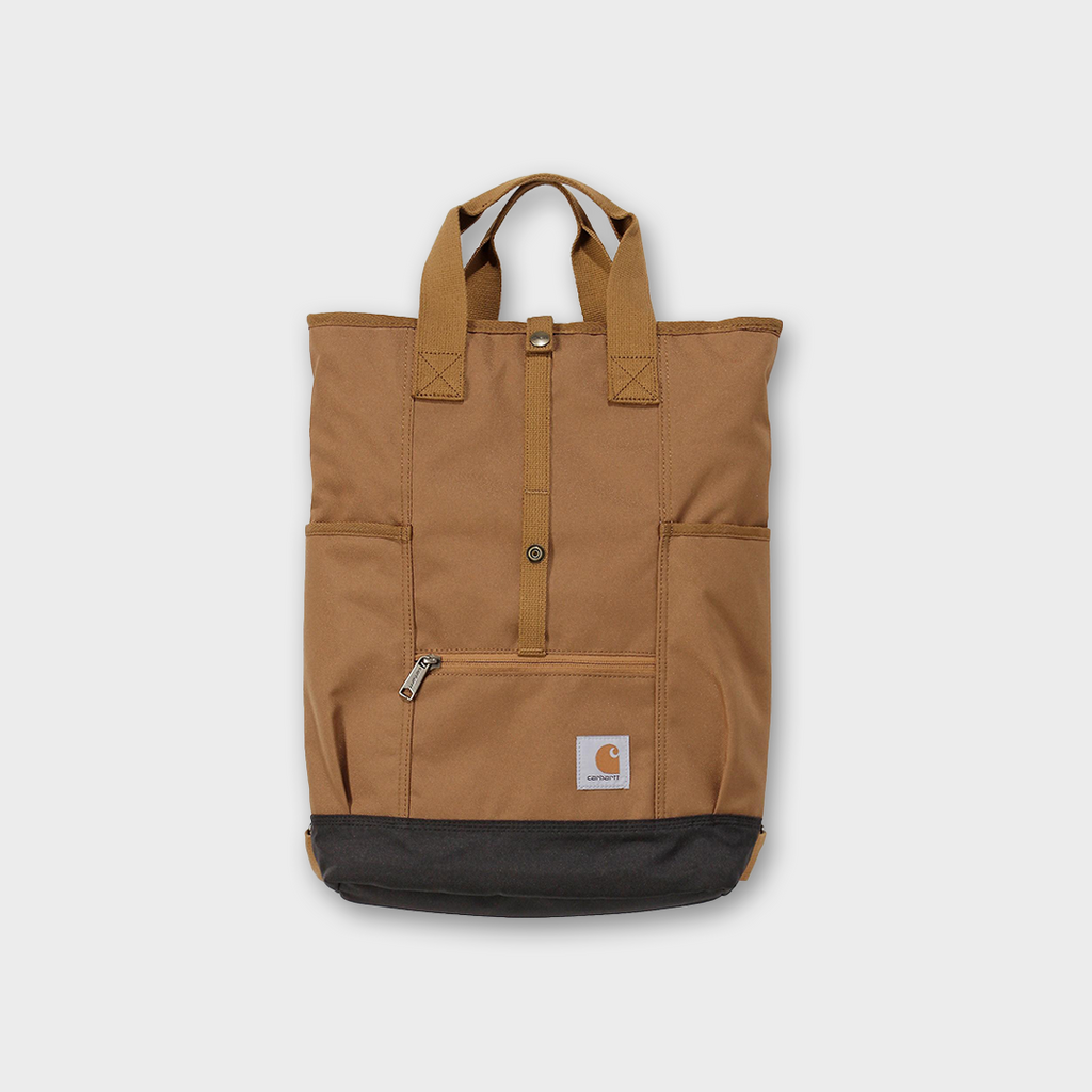 Carhartt workwear USA Hybrid Backpack Tote Bag - Carhartt Brown