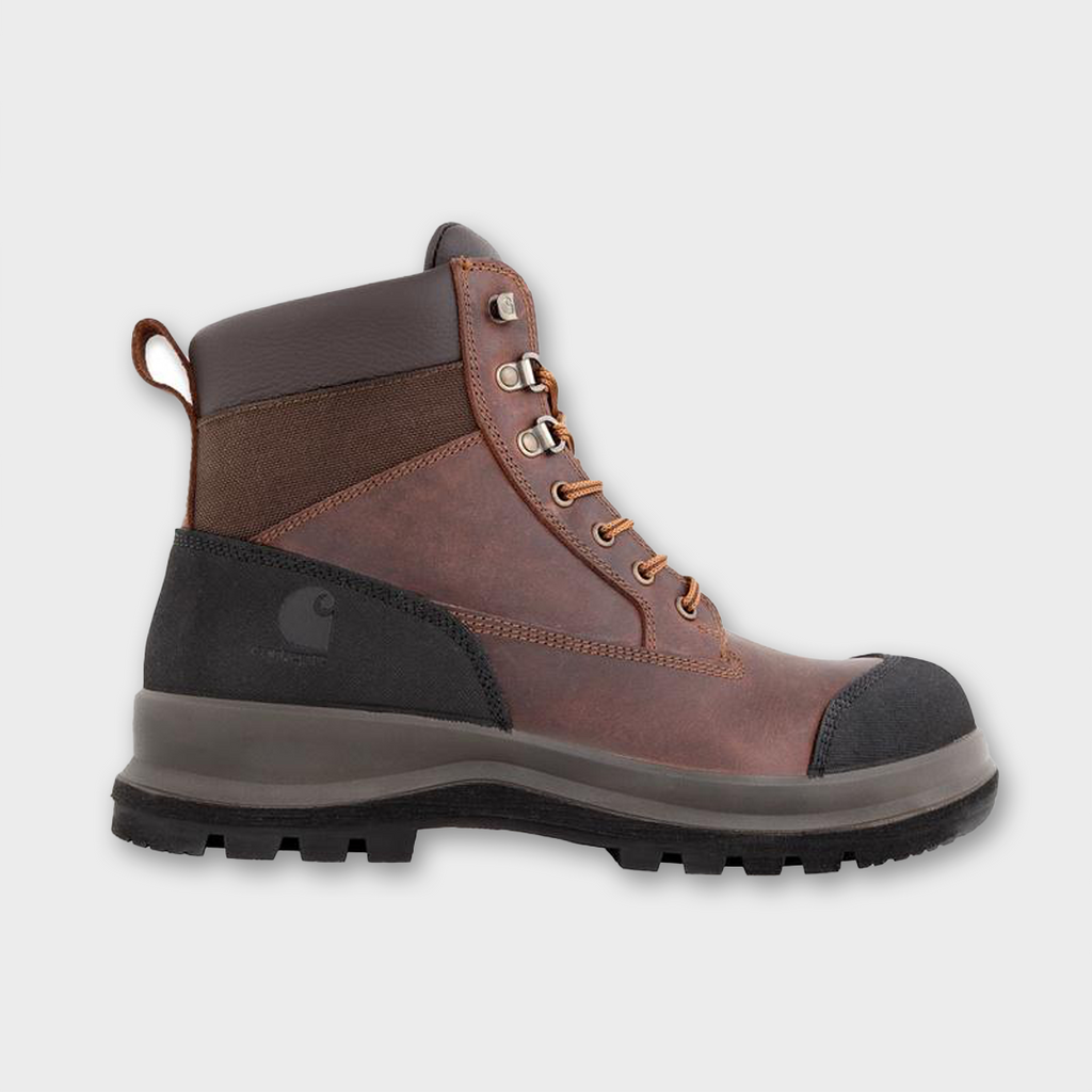 "Carhartt Workwear USA Detroit 6"" Rugged Flex Work Boot - Dark Brown"