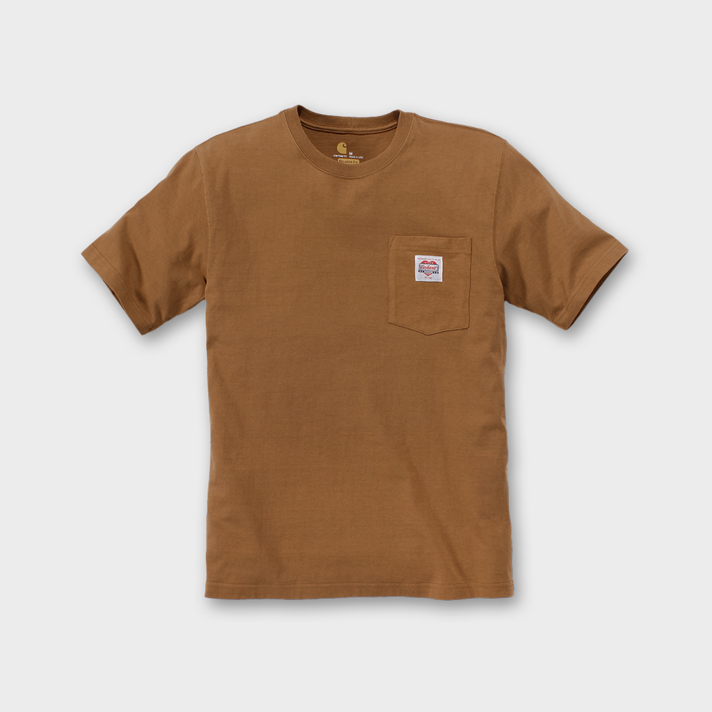 Carhartt Workwear USA Heritage K87 Icon T-shirt - Carhartt Brown