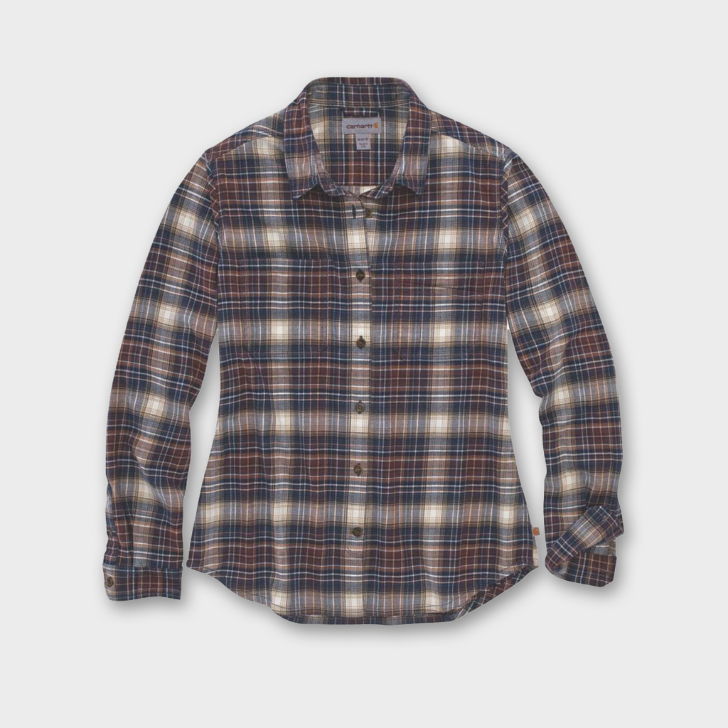 Carhartt Workwear USA Womens Hamilton Plaid Flannel Shirt - Twilight