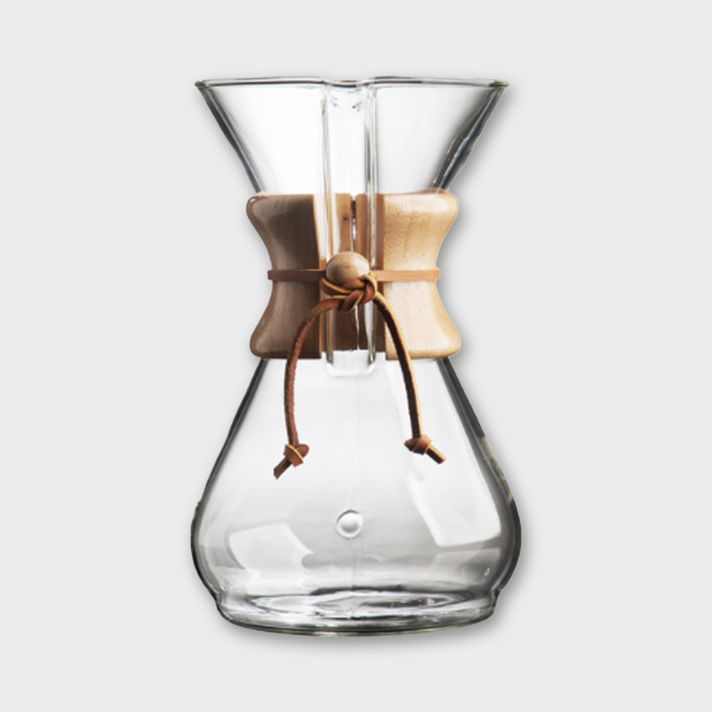 Chemex Eight Cup Classic Glass Coffeemaker - Clear / Wood