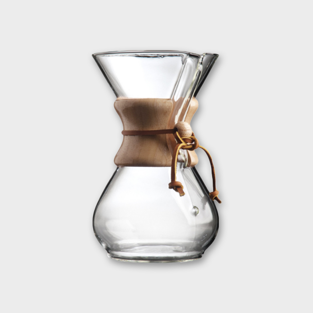 Chemex Six Cup Classic Glass Coffeemaker - Clear / Wood