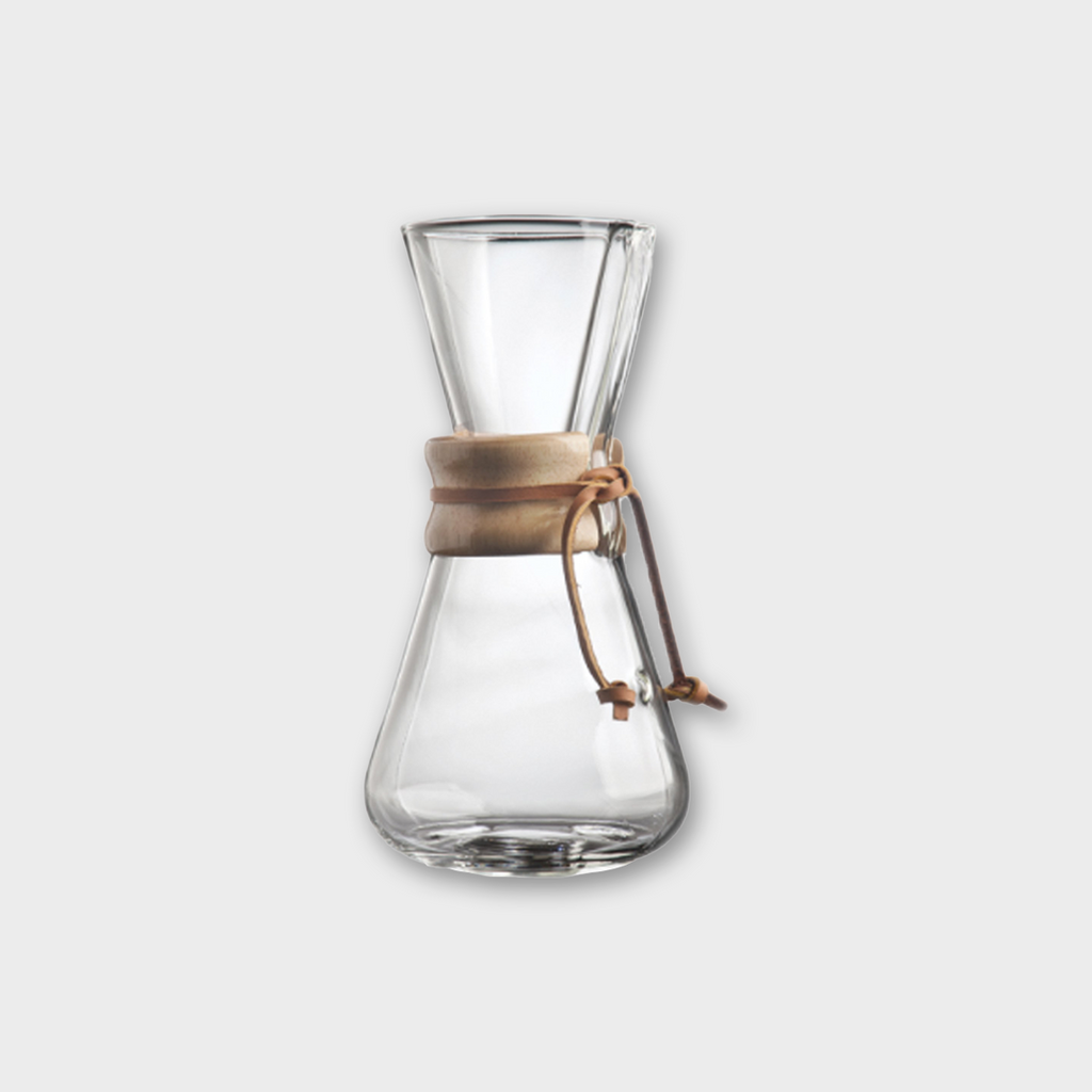 Chemex Three Cup Classic Glass Coffeemaker - Clear / Wood