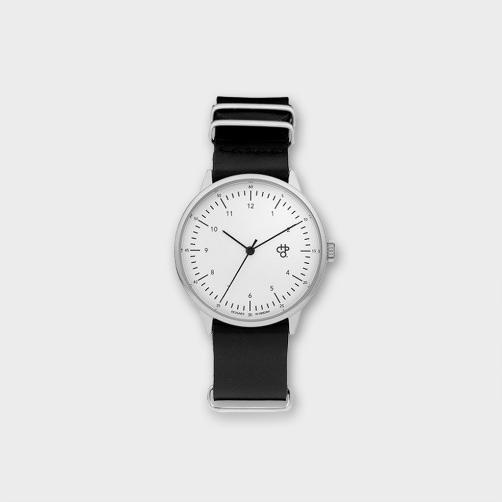 CHPO Harold Betong watch - White / Silver / Black