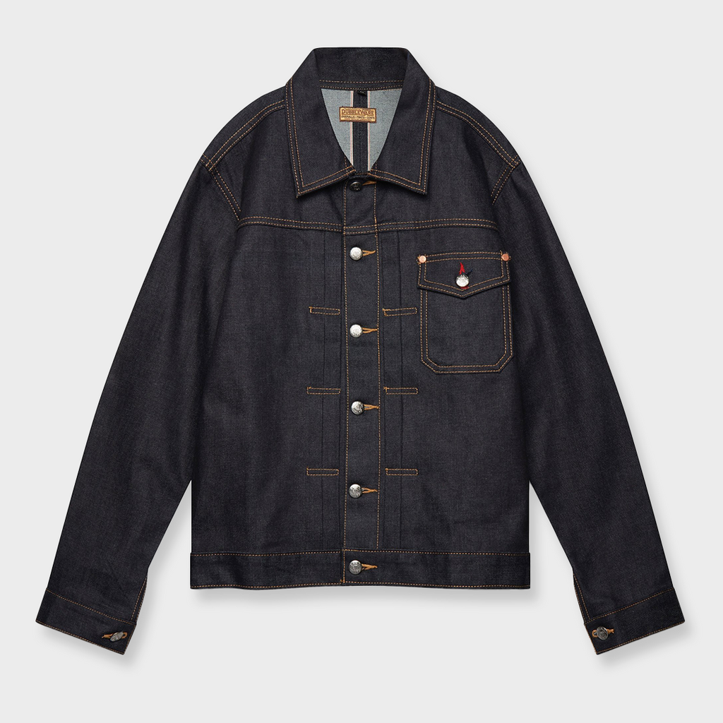 Dubbleware Nimes Selvedge Denim Jacket - Deep Blue