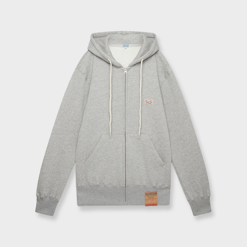 Dubbleware Zip Hoody Sweatshirt - Heather Grey