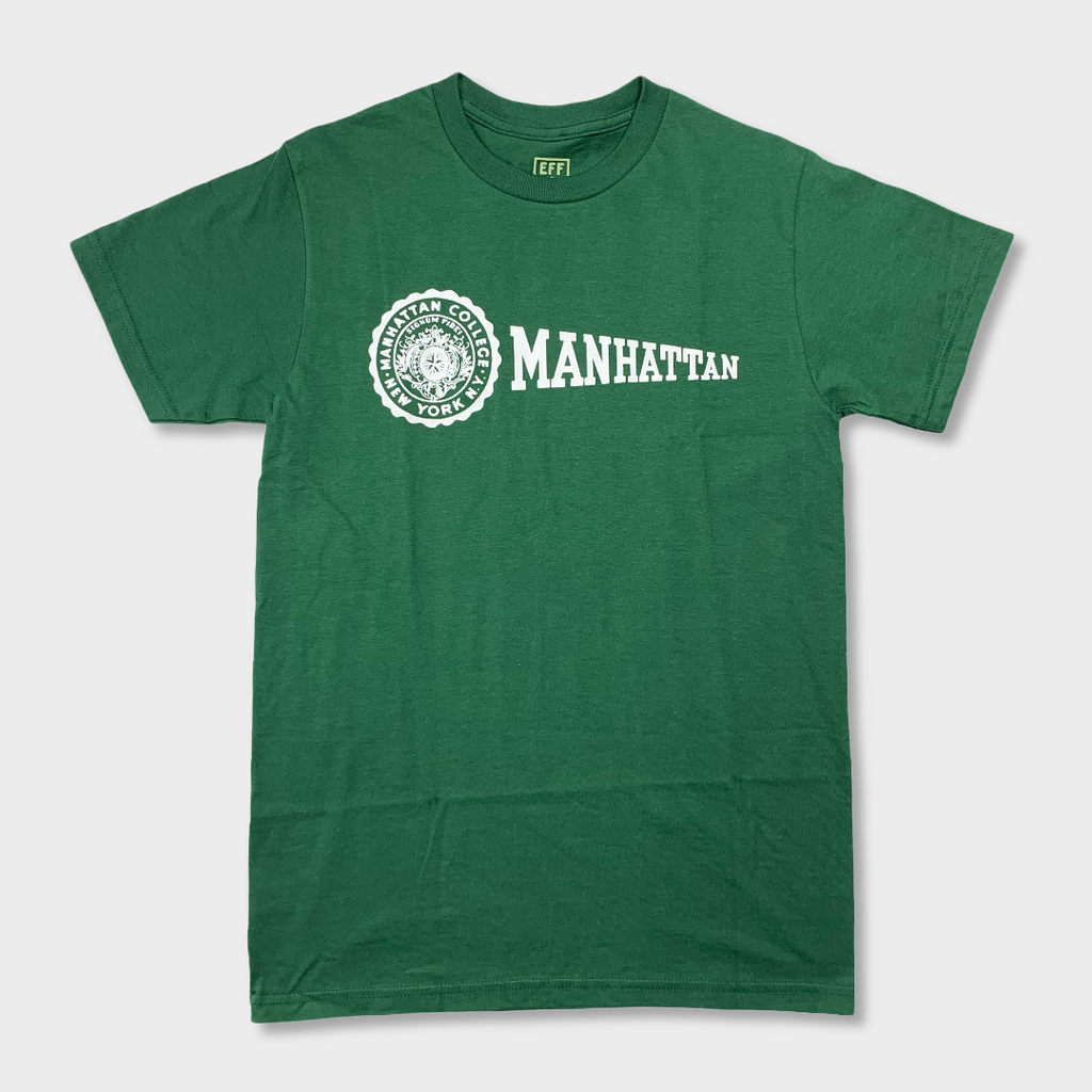 Ebbets Field Flannels USA Manhattan New York T-Shirt - Green