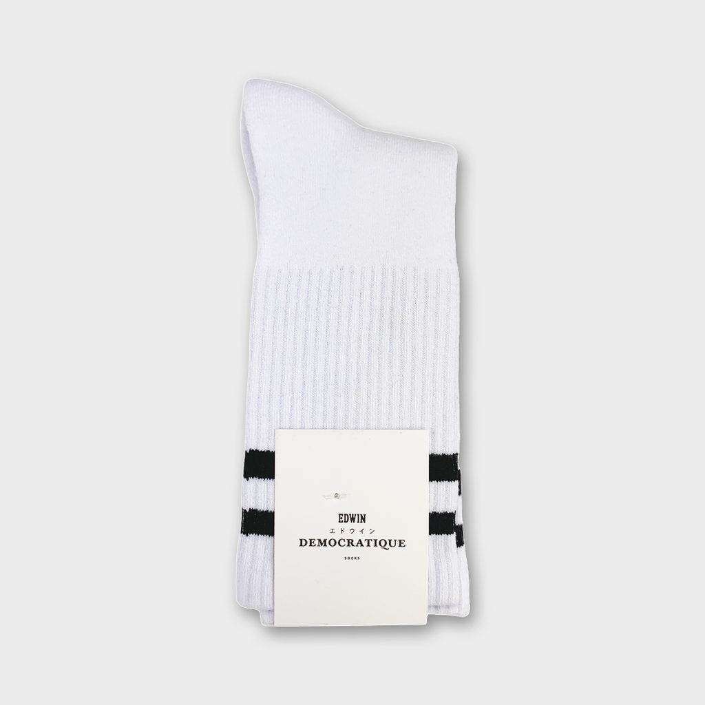 Democratique x Edwin Jeans Athlétique Socks - White
