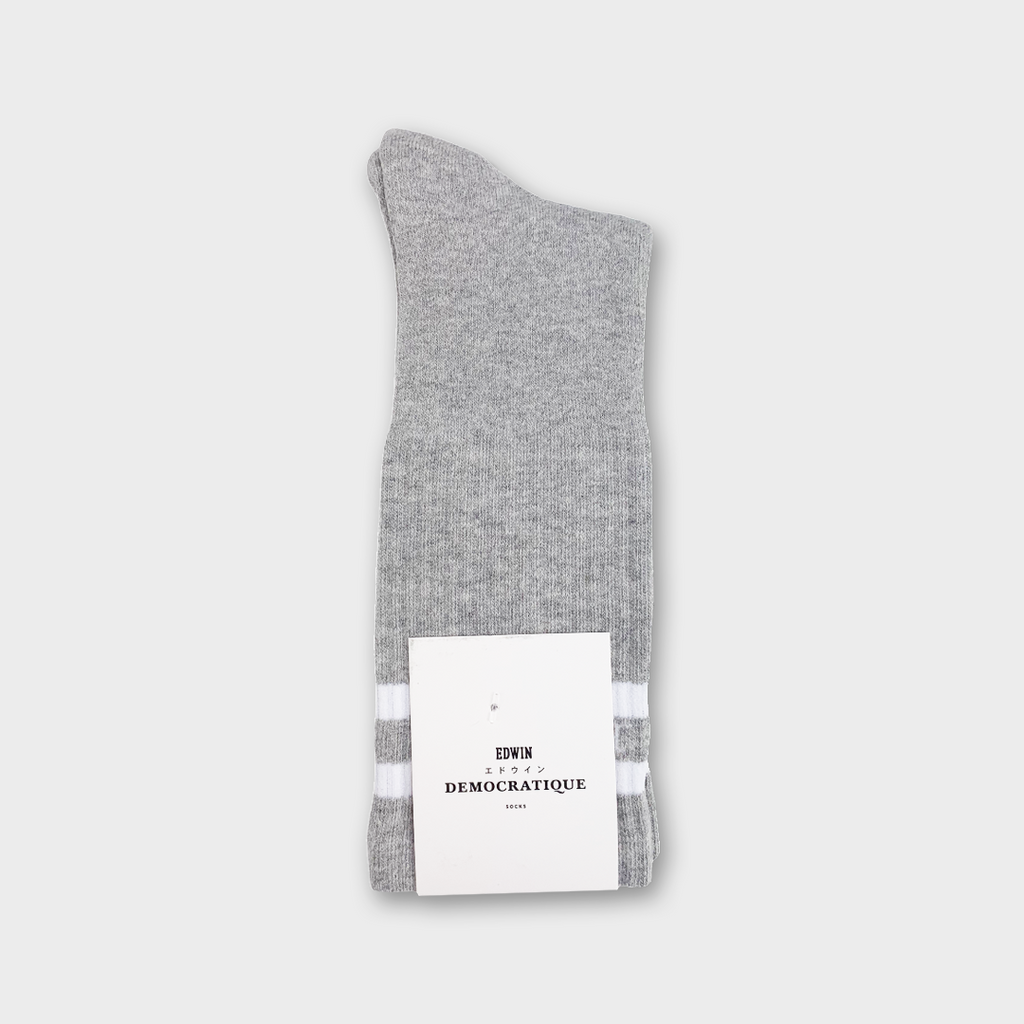 Democratique x Edwin Jeans Athlétique Socks - Heather Grey