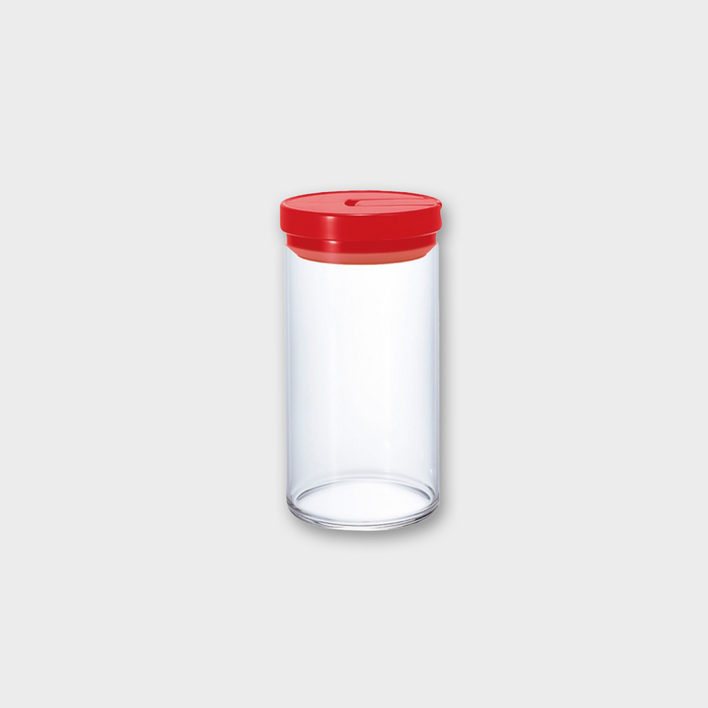 Hario Glass Coffee Canister 1000ml - Red / Glass