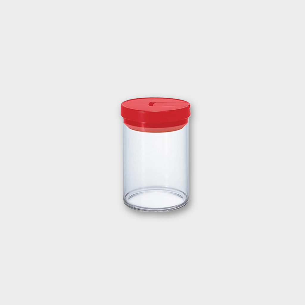 Hario Glass Coffee Canister 800ml - Red / Glass