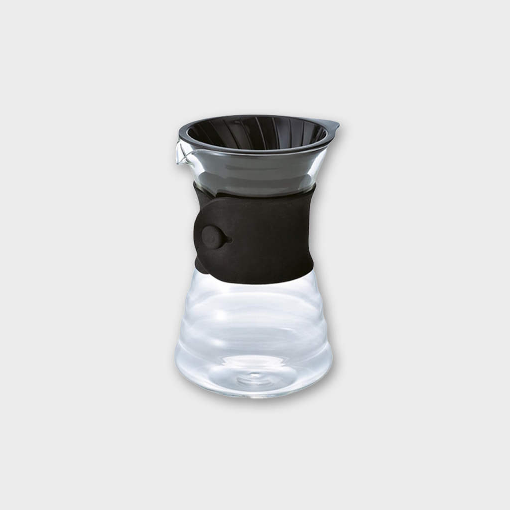 Hario V60 Coffee Drip Decanter 1-4 Cup - Glass / Black 700ml