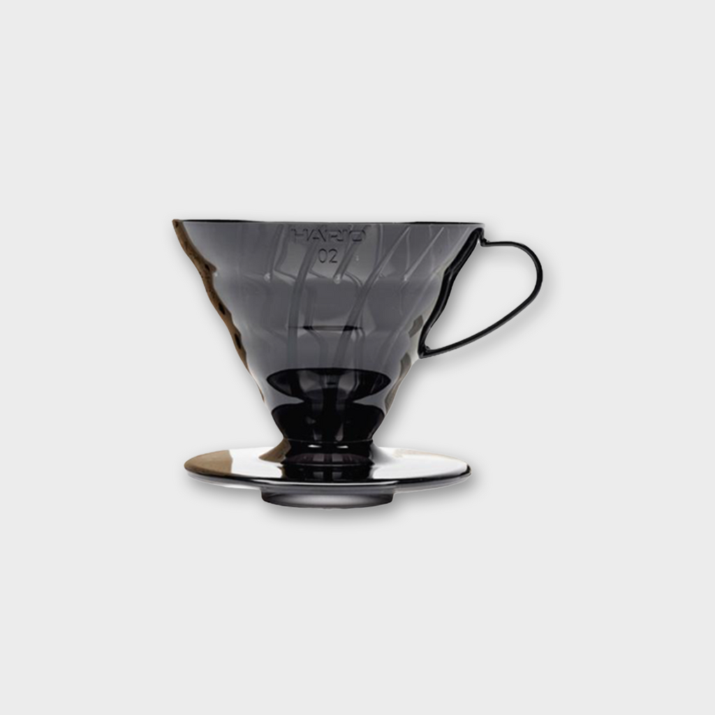 Hario V60 Dripper Kit 02 - Transparent Black Plastic