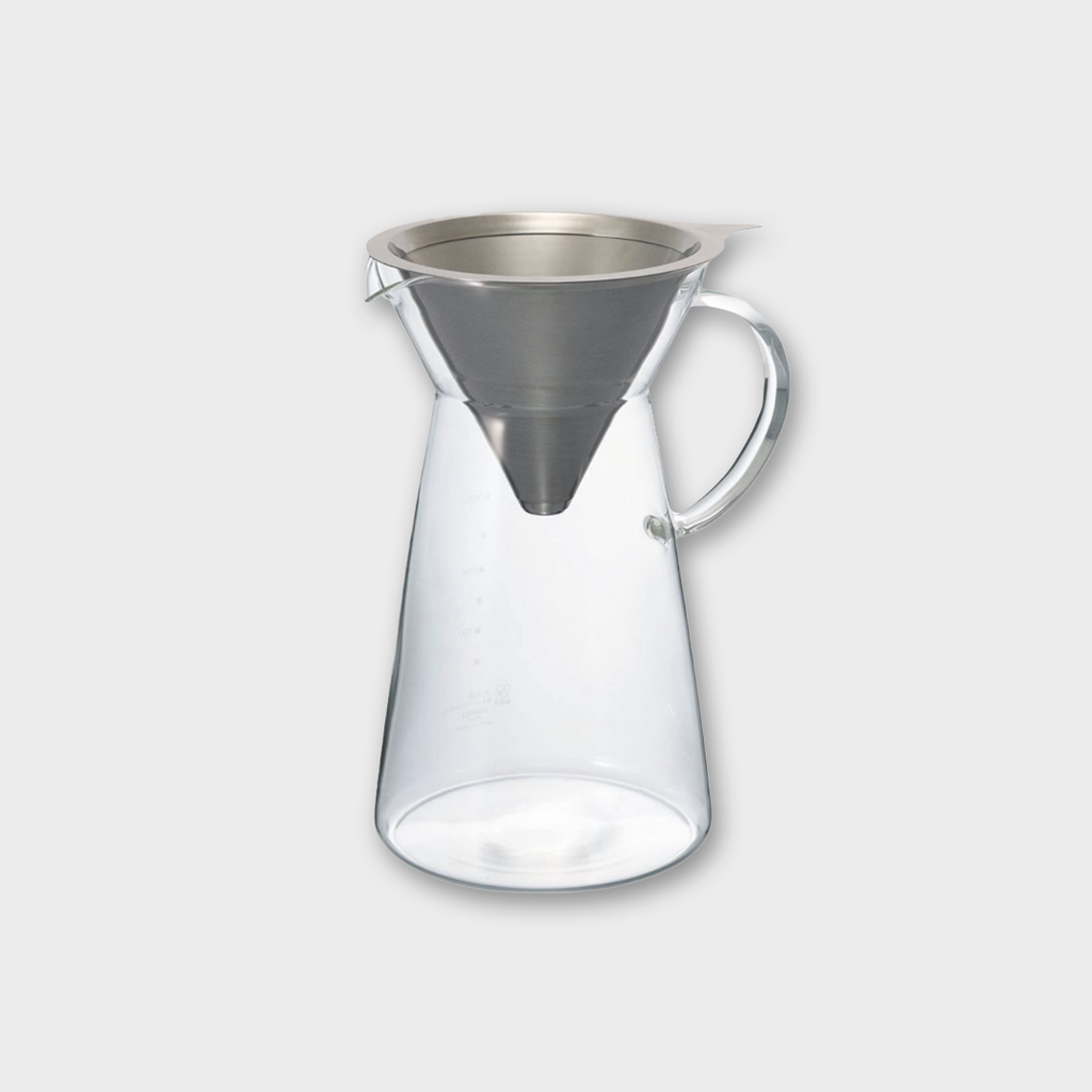 Hario V60 Coffee Maker Metal Drip Decanter - Metal / Glass 700ml
