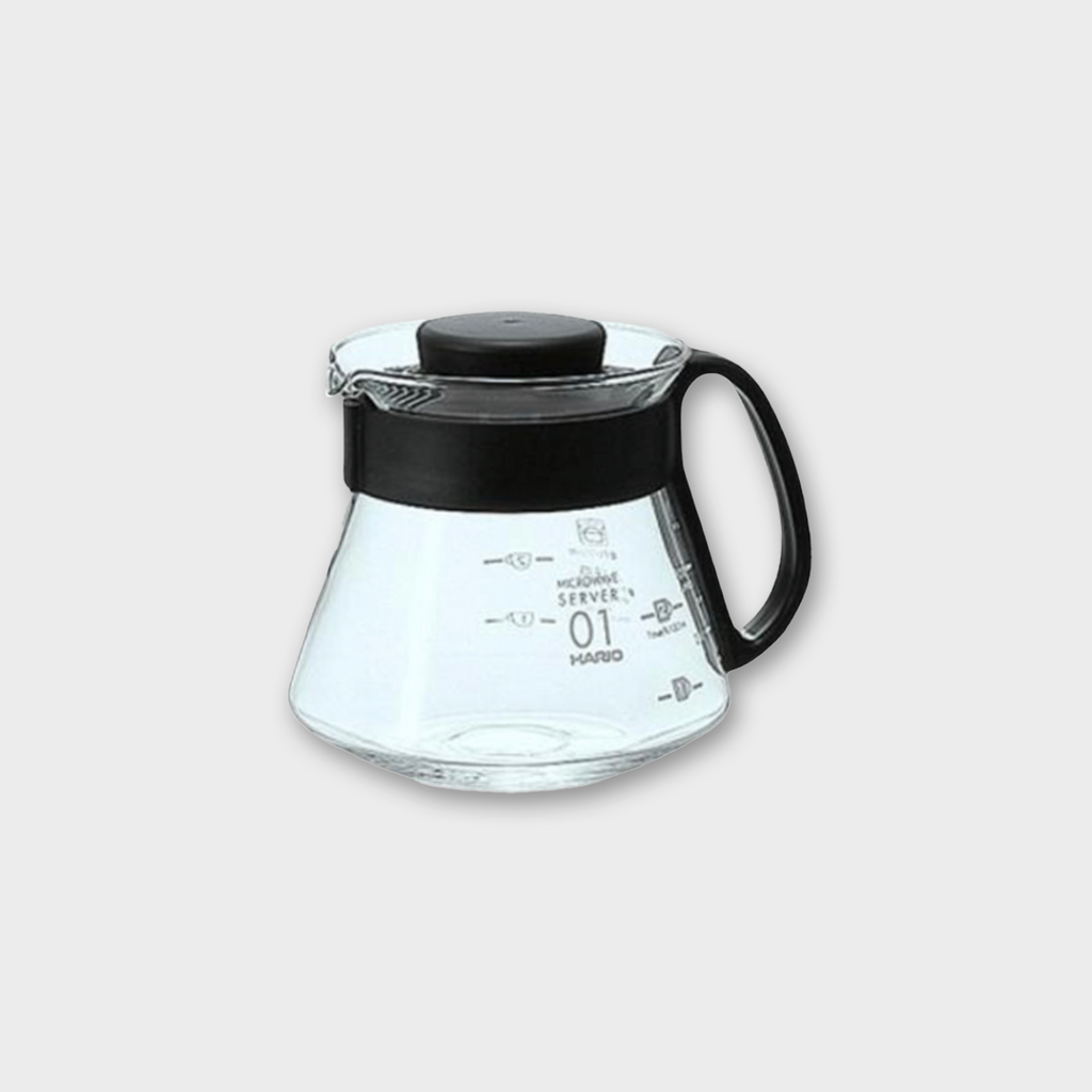 Hario V60 Glass Range Coffee Server 360ml - Black Plastic / Glass