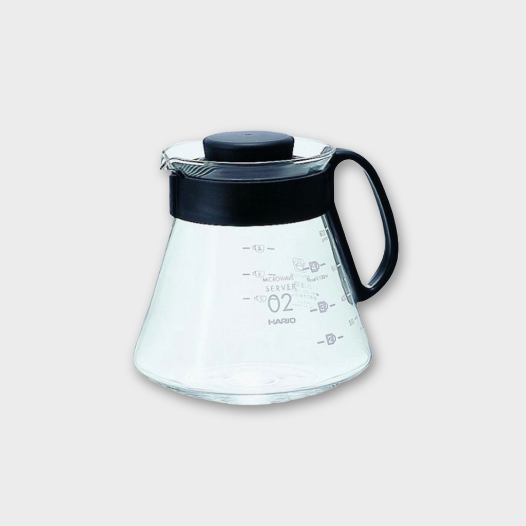 Hario V60 Glass Range Coffee Server 600ml - Black Plastic / Glass