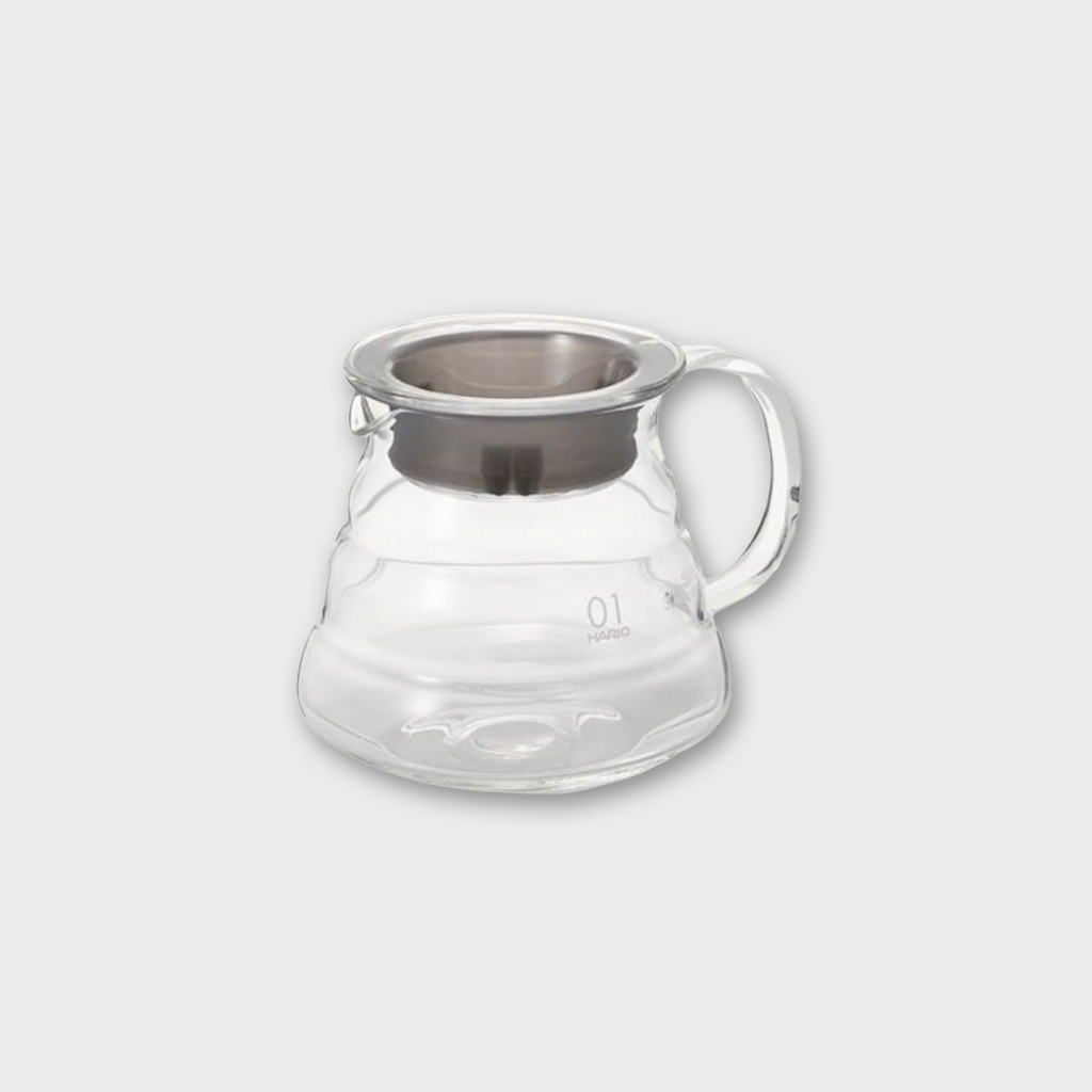 Hario V60 Glass Range Coffee Server 360ml - Stainless Steel / Glass