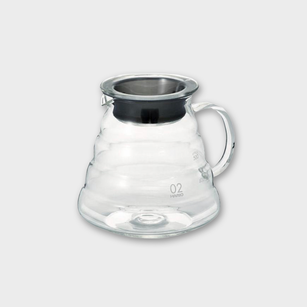 Hario V60 Glass Range Coffee Server 600ml - Stainless Steel / Glass