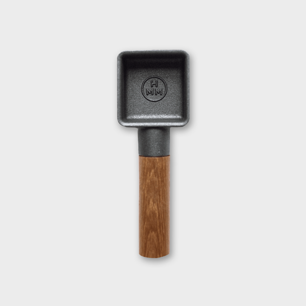 HMM Project 'Sqoop' Coffee Bean Scoop - Cast Iron / Teak Wood