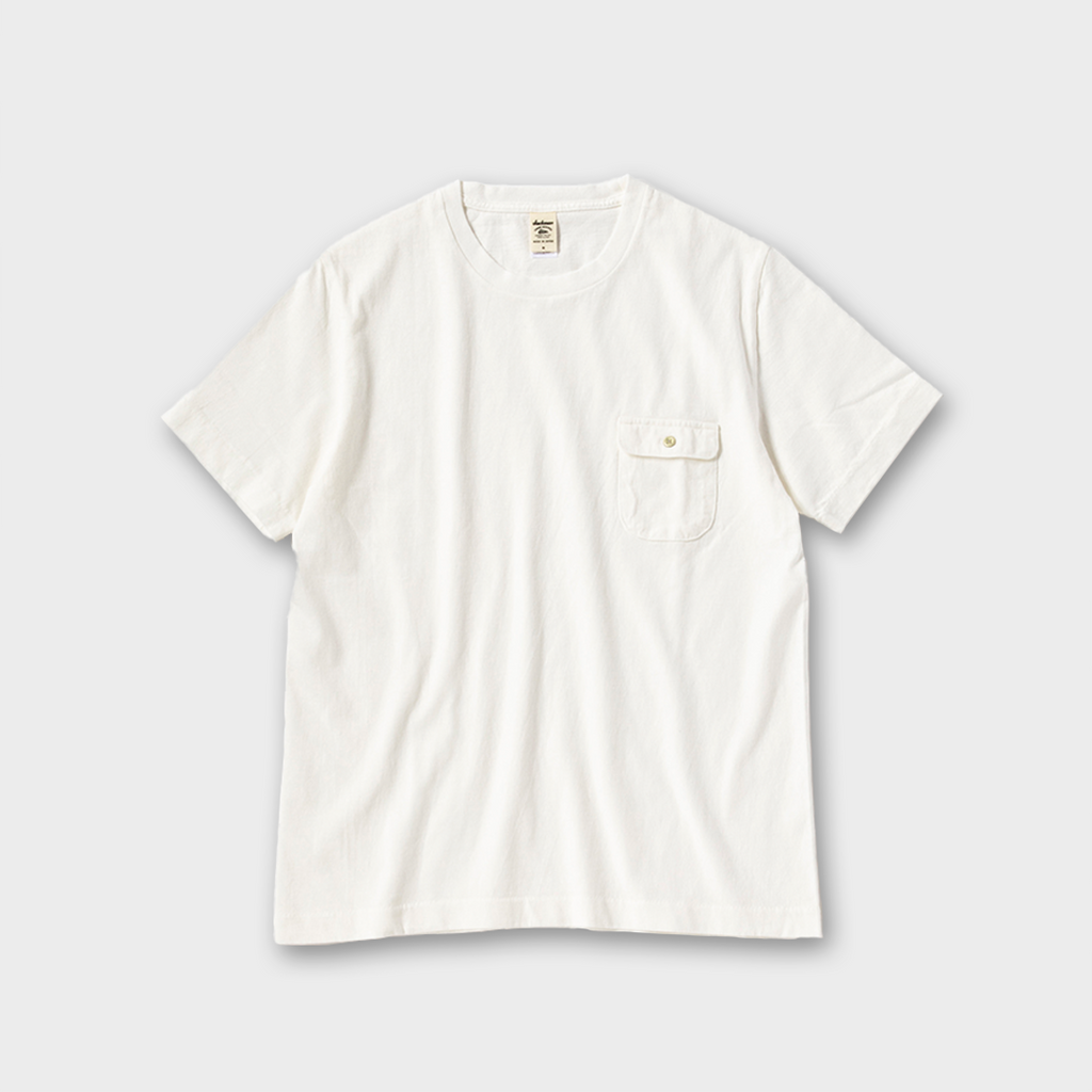 Jackman Japan Button Pocket T-Shirt - White