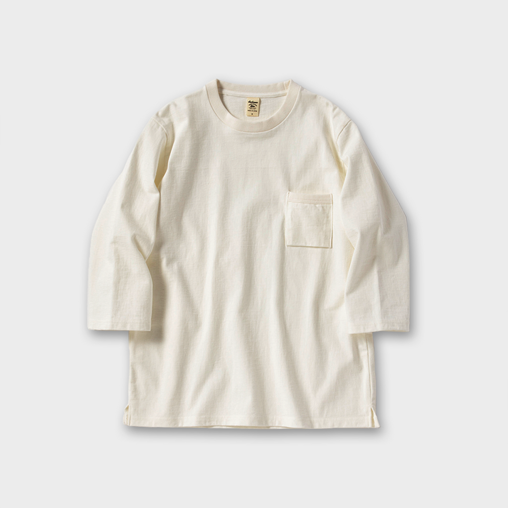 Jackman Japan Dotsume 1/2 Sleeve T-Shirt - Off White