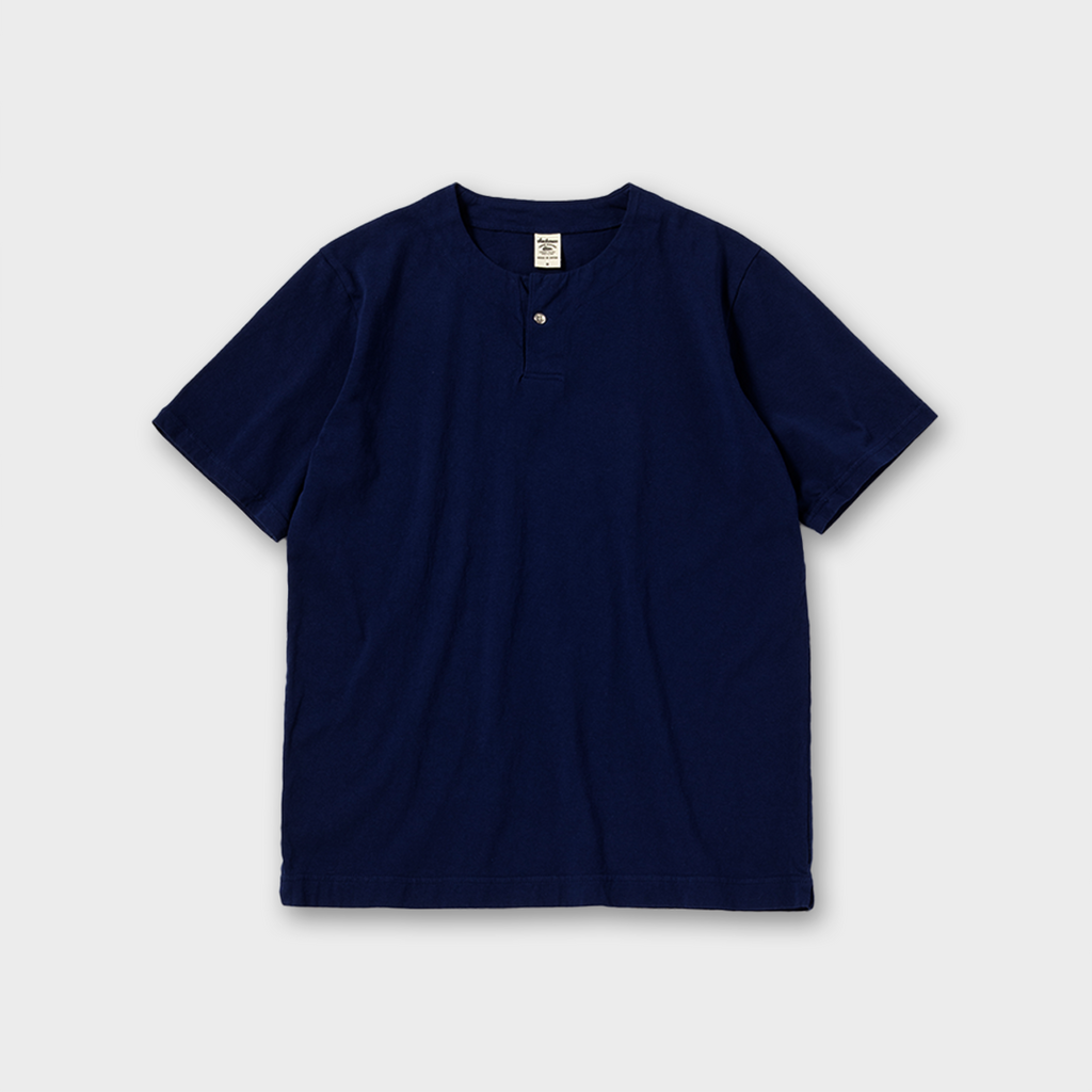 Jackman Japan Henley Neck T-Shirt - Navy