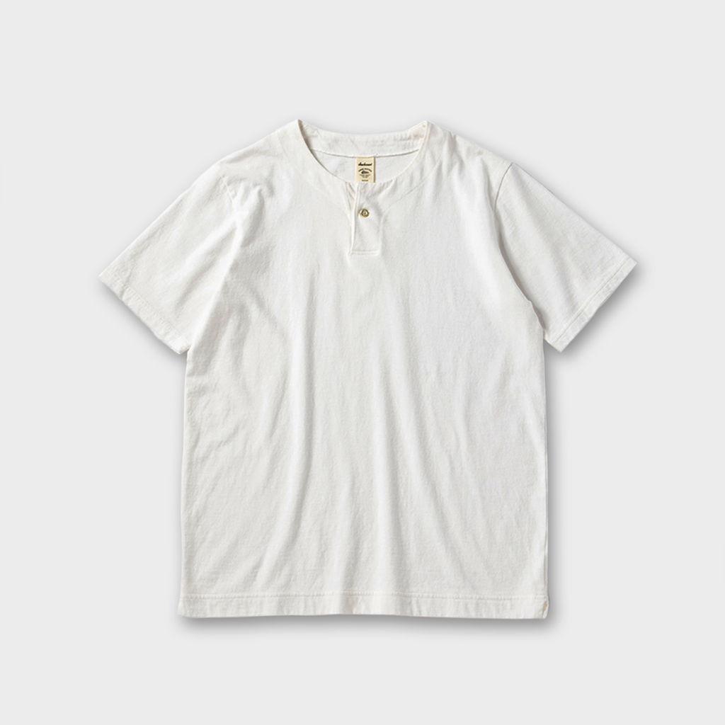Jackman Japan Henley Neck T-Shirt - White