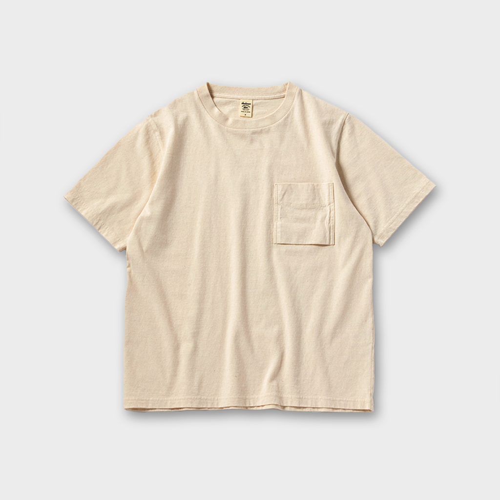 Jackman Japan Pocket T-Shirt - Kinari