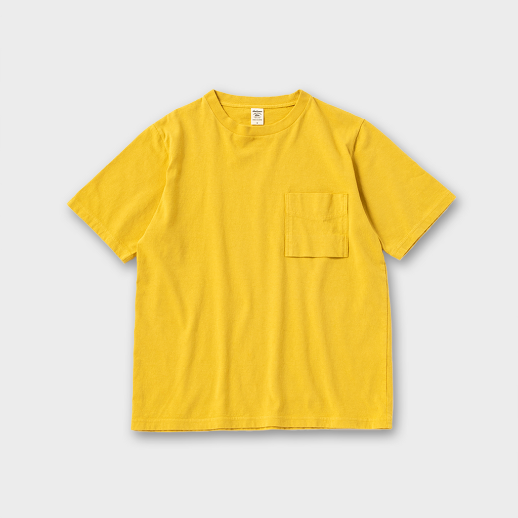 Jackman Japan Pocket T-Shirt - Sulphur Yellow