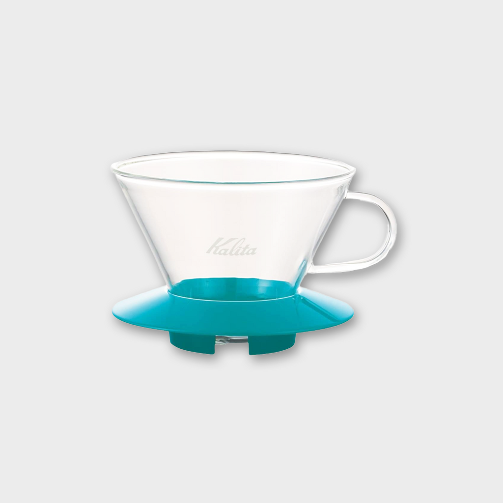 Kalita Wave Glass Coffee Dripper 2 - 4 cups - 185 Peppermint Green