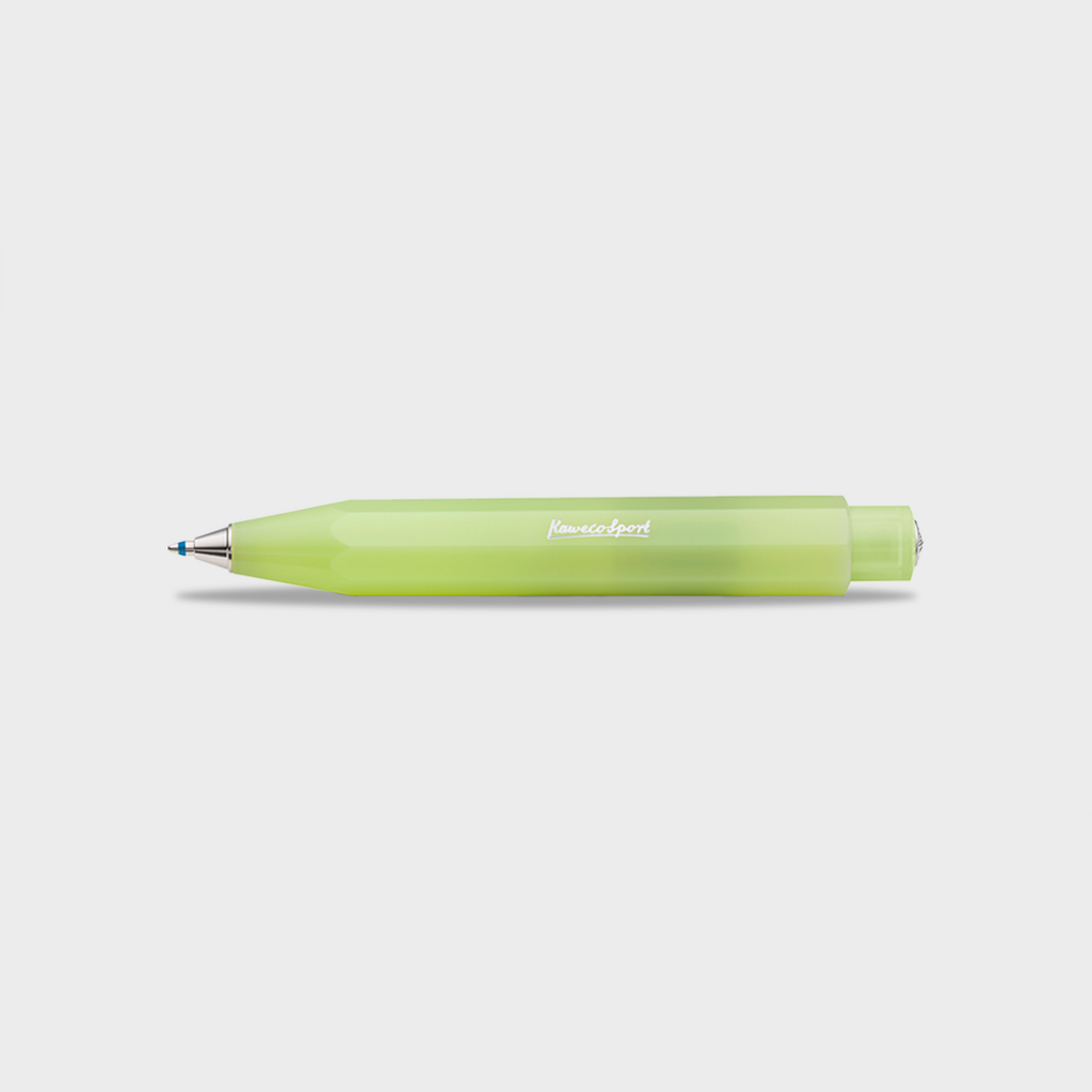 Kaweco Frosted Sport Ballpoint Pen - Fine Lime