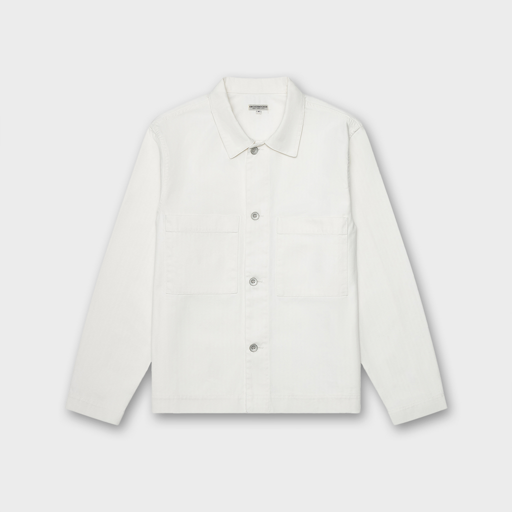 Knickerbocker New York Chore Shirt - Natural Herringbone