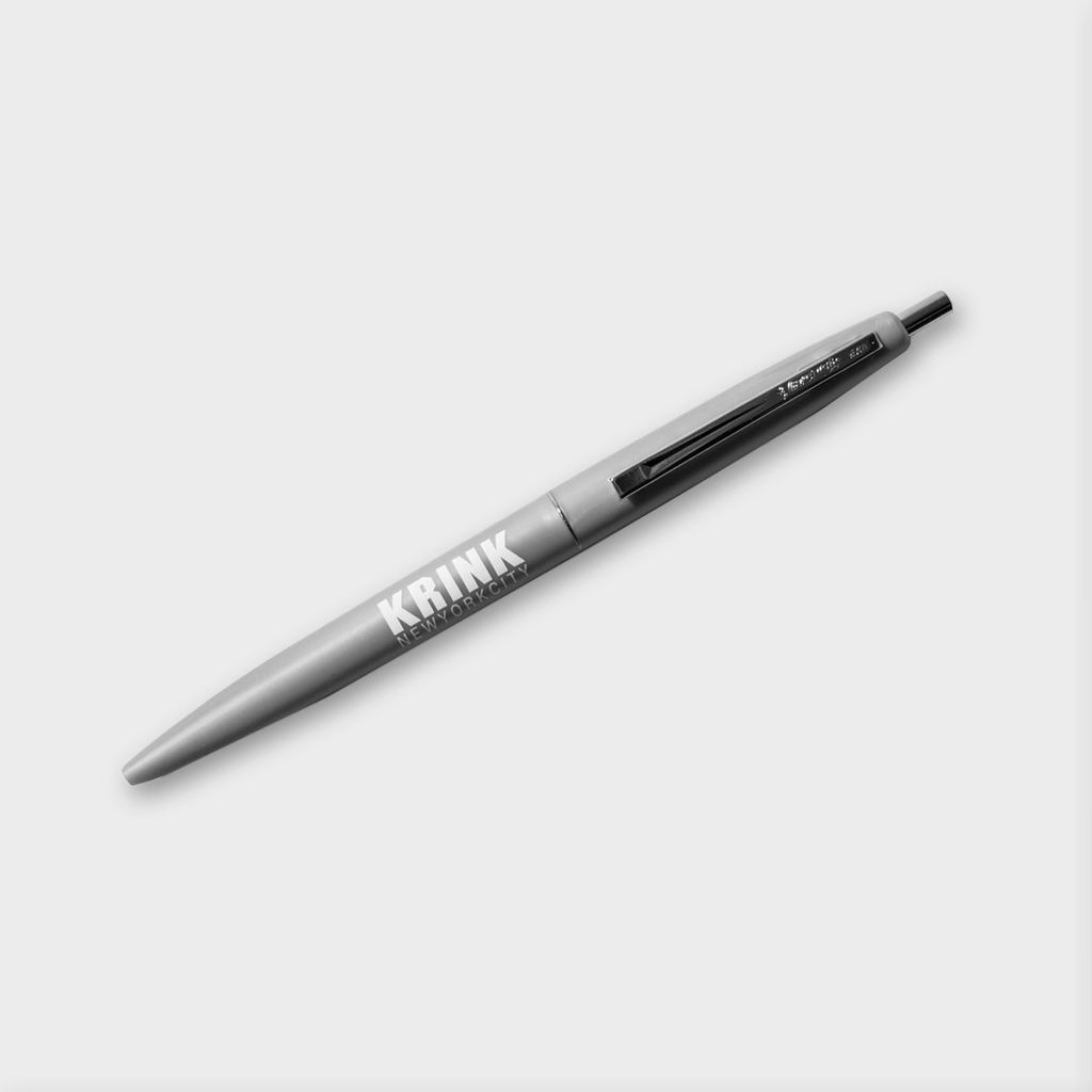 Krink Ink New York Ballpoint Pen - Silver with Black Ink