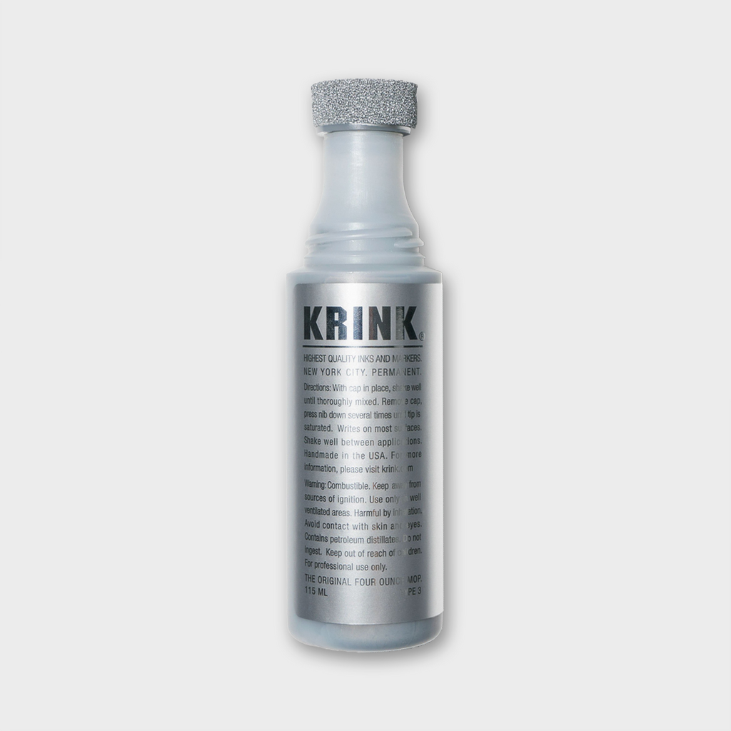 Krink Ink New York 4oz Mop Paint Marker - Silver