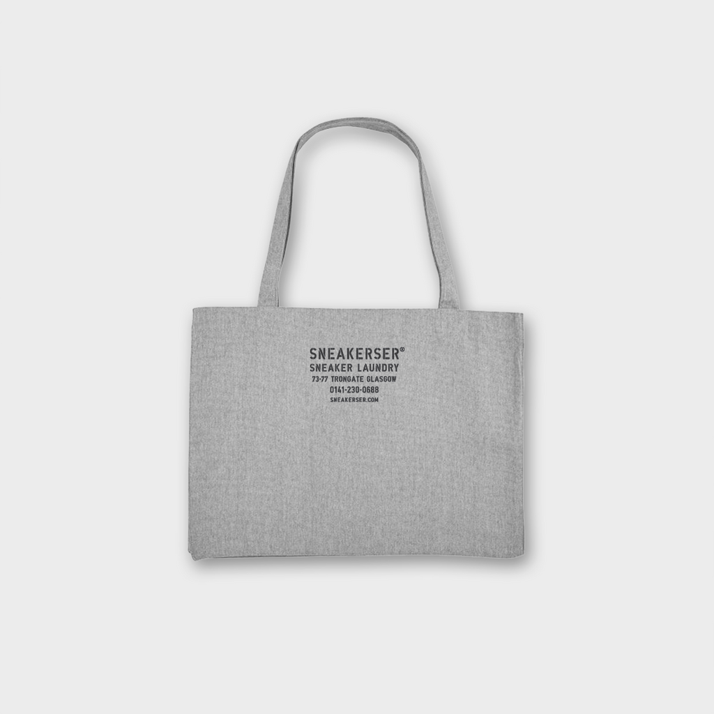 Sneaker Laundry Glasgow Heavyweight Recycled Shopper Bag - Heather Grey / Navy