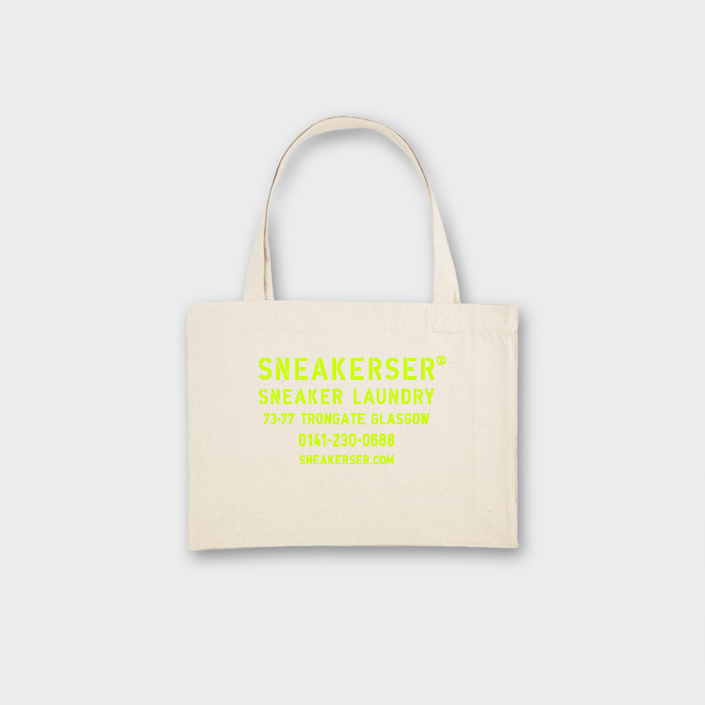 Sneaker Laundry Glasgow Heavyweight Recycled Shopper Bag - Natural / Lime