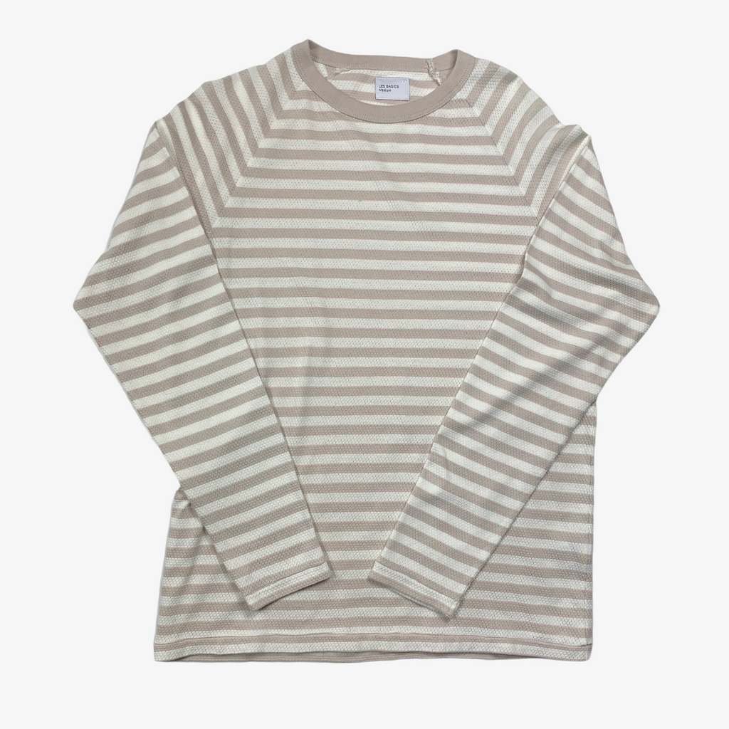 Les Basics Le Long Sleeve Tee - Grey Stripe
