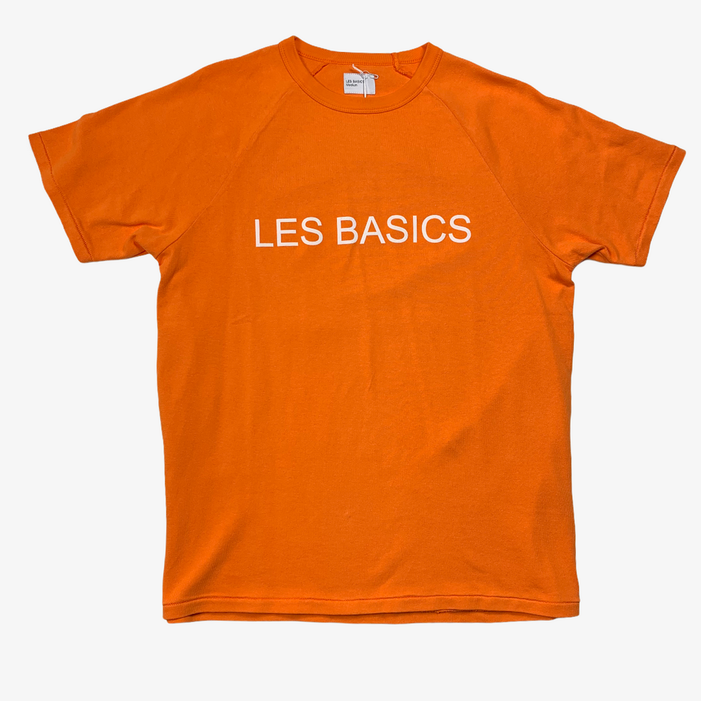 Les Basics Le Raglan Script Tee - Orange