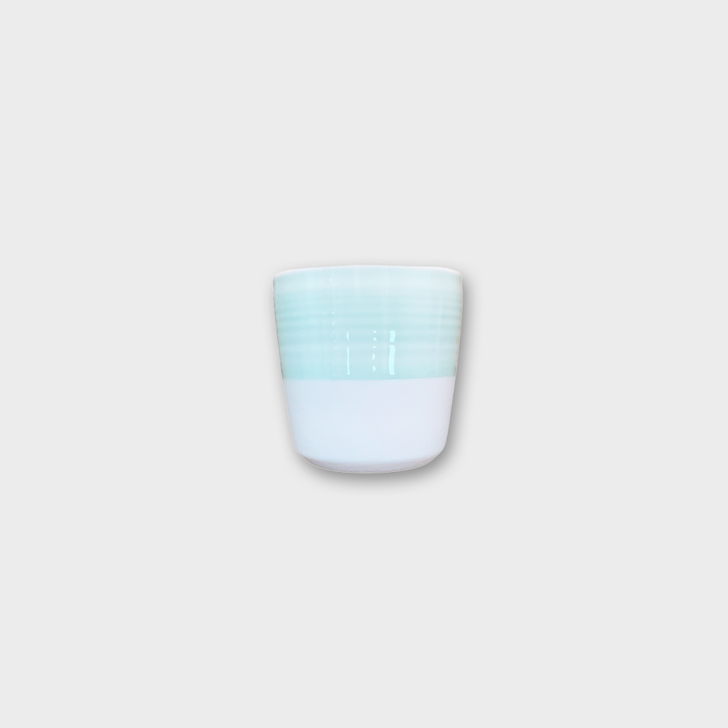 Loveramics Dale Harris Porcelain Flat White Tumbler - Celadon Blue 150ml