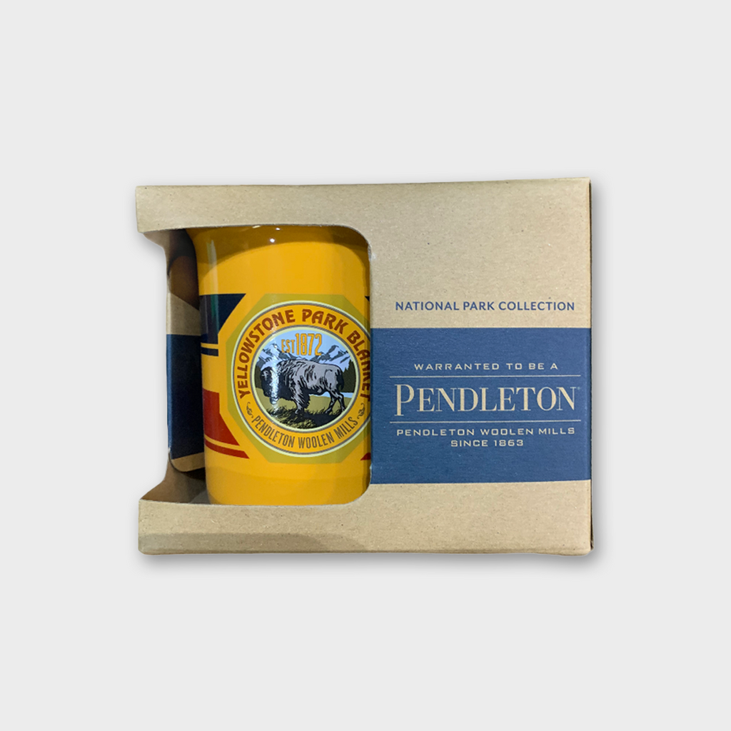 PENDLETON USA Yellowstone National Park Oversized Ceramic Mug - Marigold Yellow